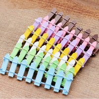 4 pcs fence-Garden decoration Small  wooden picket fence held together by bendable wire for fairy gardens, dollhouse, any mini garden