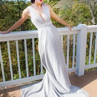 Silver Wedding Dress Eleanore Rigby by thepeppermintpretty