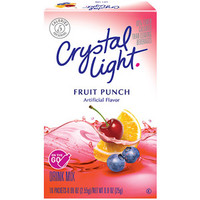 Walmart: Crystal Light On The Go Fruit Punch Drink Mix, 10ct