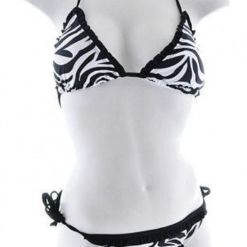 Wild Child Zebra Striped Swimsuit