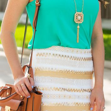 Golden Ticket Skirt