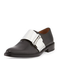 Givenchy Richelieu Metal Buckle Loafer, Black