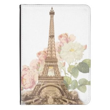 Paris Pink Rose Vintage Romantic iPad Case