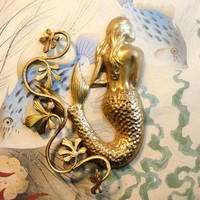 Beautiful Mermaid with Seaweed and Oyster3 pc set by squirrelnuts