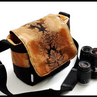 Couture Inspired Fashion Camera Bag SLR Camera Bag by sizzlestrapz