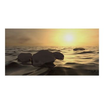 Sunset at the Sea Rendering Poster Print