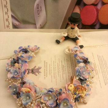 Til the End of Time Alice in Wonderland Flowery Choker