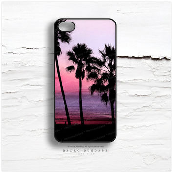 iPhone 5C Case Palm Trees, iPhone 5s Case Purple Sky, iPhone 5 Case, Palm Trees iPhone 4s Case, LA iPhone Case, Sunset TOUGH iPhone Cover N9
