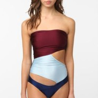 Noelle Cutout Colorblock One-Piece Swimsuit