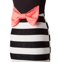 Sweetheart Bow Back  Dress