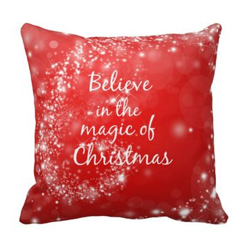Red Sparkles with Christmas Magic Quote