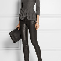 Gucci - Leather leggings-style pants