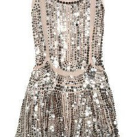 ANNA SUI Silk-tulle sequin-embellished dress