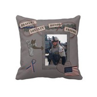 My Hero, My Soldier American MoJo Pillow from Zazzle.com