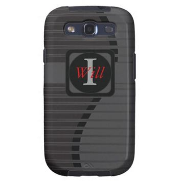 Monogrammed Personalize Manly Black Gray Vibe3