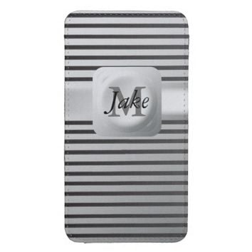 Monogrammed Personalized Manly Phone Cover