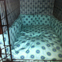 Crate pad bumpers and cover by ourluckydog on Etsy