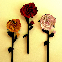 Rose Large Flowers Wall Hanging Pdf Pattern | Luulla