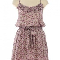RUFFLE FLORAL DRESS-Casual Dresses-casual dresses for juniors,casual dresses,comfort dress,casual elegant dress,designer dresses