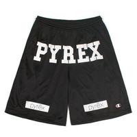 PYREX GYM SHORTS BLACK AUTHENTIC - A Very Based You