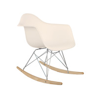 Modern Ash Wood Rocker in Cream