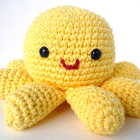 Eleanor the Octopus Cute Amigurumi Crocheted by HarvestingHart