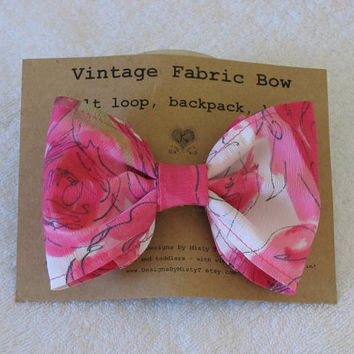 Hot Pink Fabric Hair Bow
