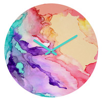 Rosie Brown Color My World Round Clock