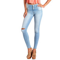"REFUGE ""HI-WAIST SUPER SKINNY"" LIGHT WASH JEANS"