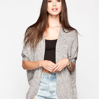 Full Tilt Essential Womens Cocoon Cardigan Black/Grey  In Sizes