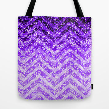 Zig Zag Sparkley Texture G229 Tote Bag by MedusArt