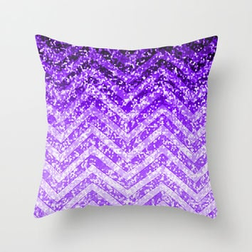 Zig Zag Sparkley Texture G229 Throw Pillow by MedusArt