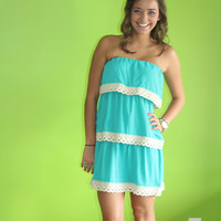 Topsy Turby Layered Dress: Jade