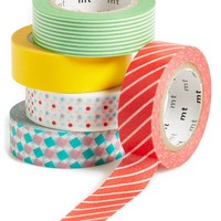 Kamoi Kakoshi MT Patterned Washi Paper Masking Tape (Set of 5)