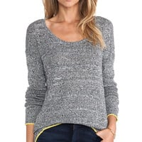 C&C California Angora Mesh Sweater in Gray