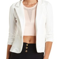 Textured Single Button Blazer