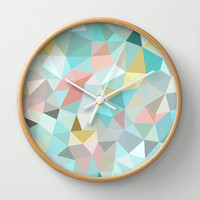 Springtime Geometry Wall Clock