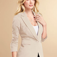 One-button Jacket in Stretch Cotton - Victoria's Secret