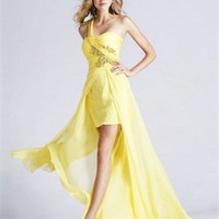 High-low One shoulder with beadings Homecoming Dress PD1880