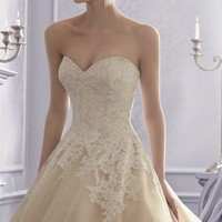 Embroidered Wedding Gown by Bridal by Mori Lee