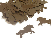 Horse Confetti - Kids Birthday Party Supplies - 100 Pieces
