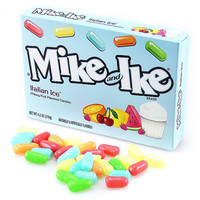 Mike & Ike Italian Ice 5-Ounce Candy Packs: 12-Piece Case