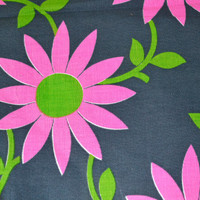 Vintage 1970s Mod FLower Power Fabric panel