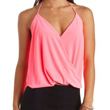 DRAPING WRAP HALTER TOP