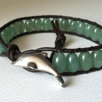 GOOD LUCK DOLPHIN Green Aventurine Gemstone by Jennasjewelrydesign
