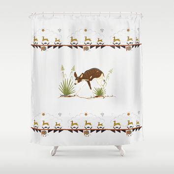 Totem  Shower Curtain by anipani