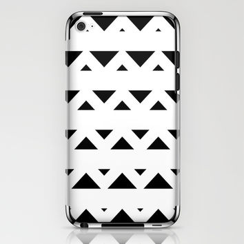 Tribal Triangles Black & White iPhone & iPod Skin by BeautifulHomes | Society6