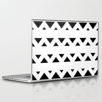 Tribal Triangles Black & White Laptop & iPad Skin by BeautifulHomes | Society6