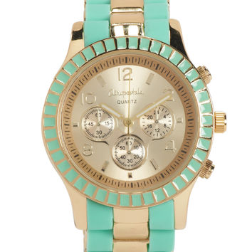 Two-Tone Metal Boyfriend Watch