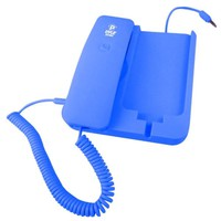 Pyle Home PIRTR60BL Handheld Phone and Desktop Dock for iPhone - Desktop Charger - Retail Packaging - Blue